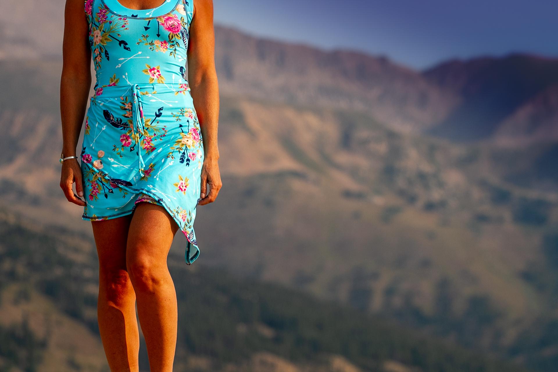 Fashion Design Autumn Warner wearing a cute tennis dress with pockets