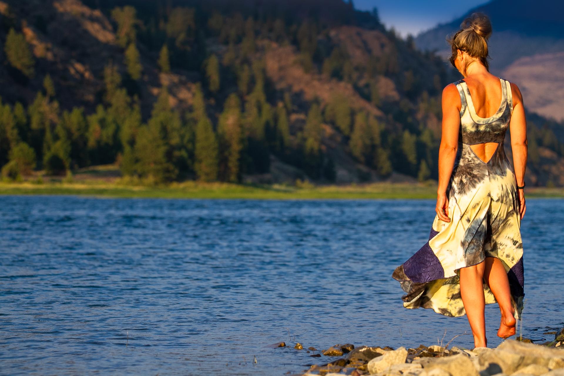 Malibu Dress in Big River