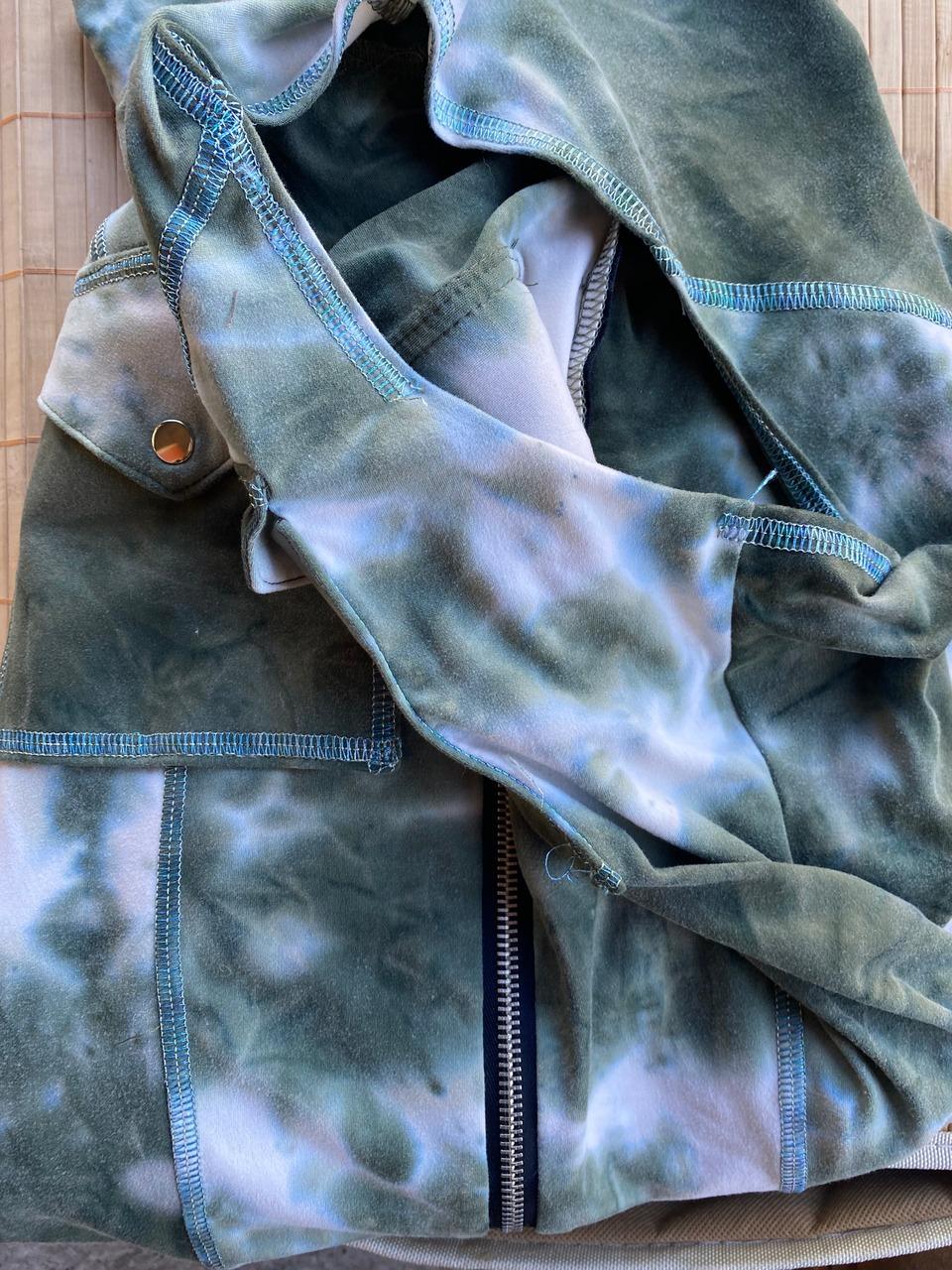 Angel Jumpsuit in Green Tie Dye (Damaged Armpit)
