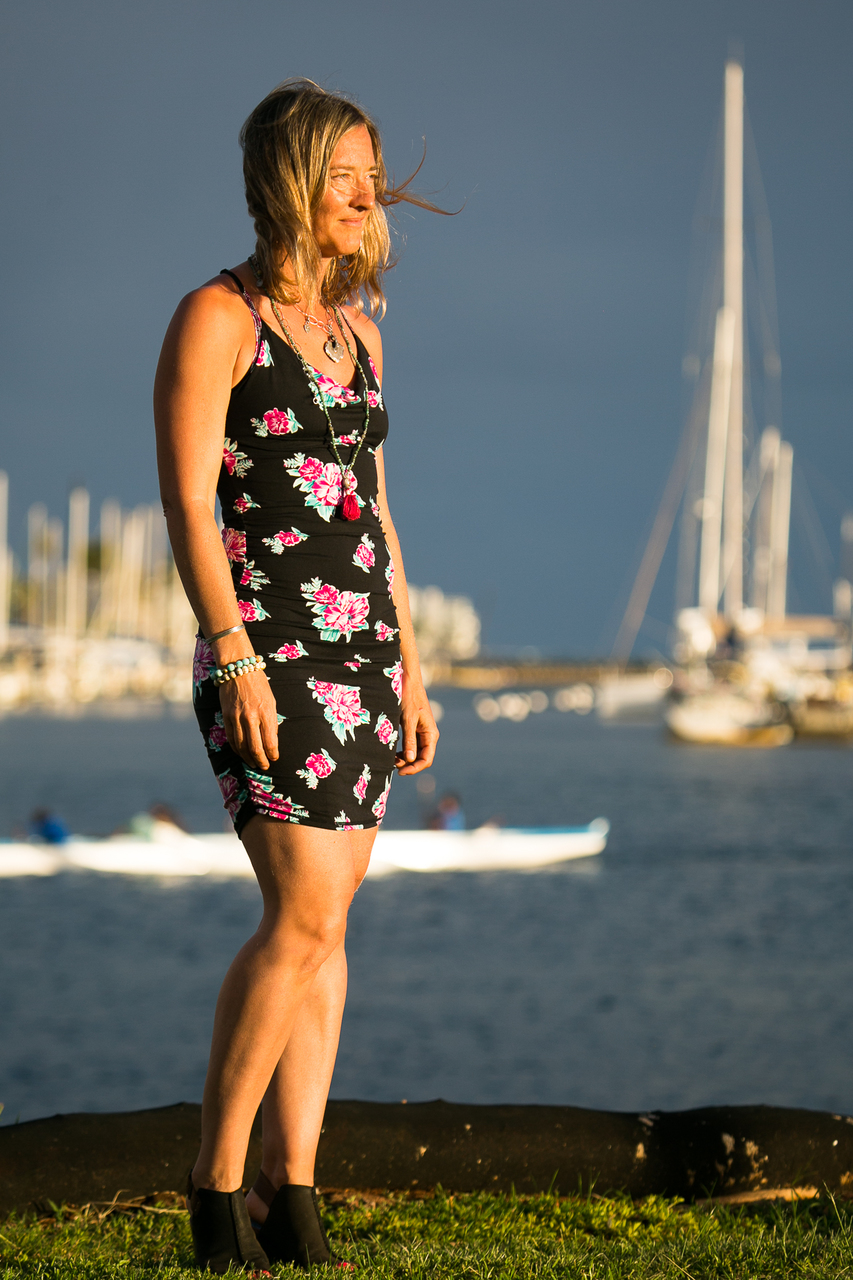 East Beach Cowl Dress in Betsy