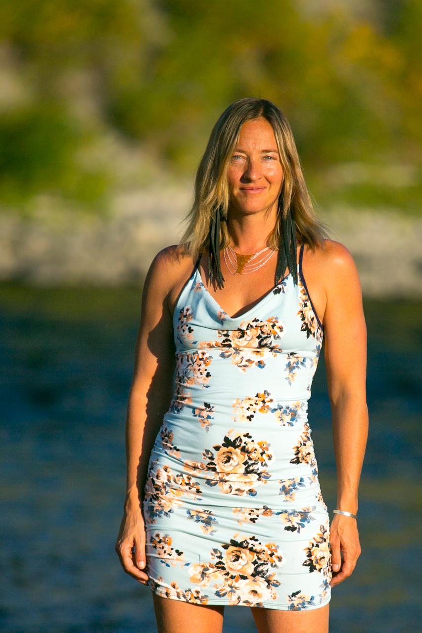 East Beach Cowl Dress in Mint Julipe