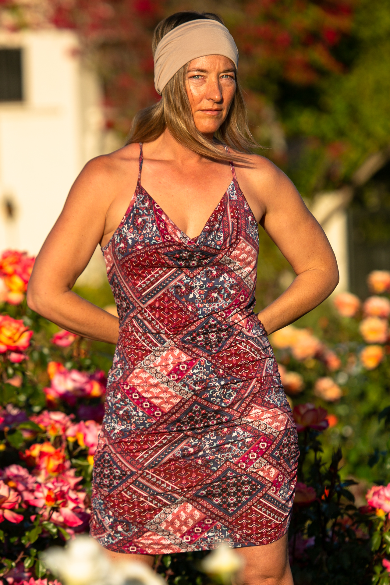 East Beach Cowl Dress in Wine Tasting