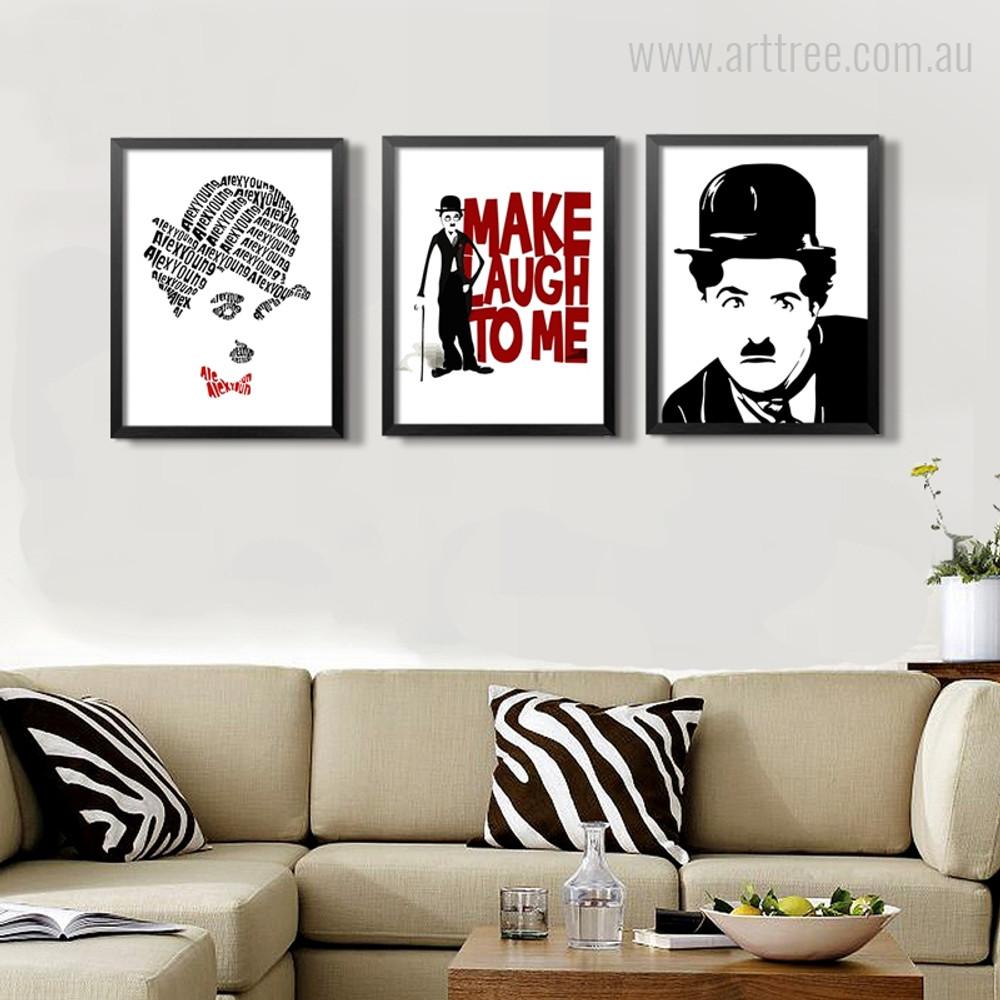 Classic Charlie Chaplin Quotes Figure Prints