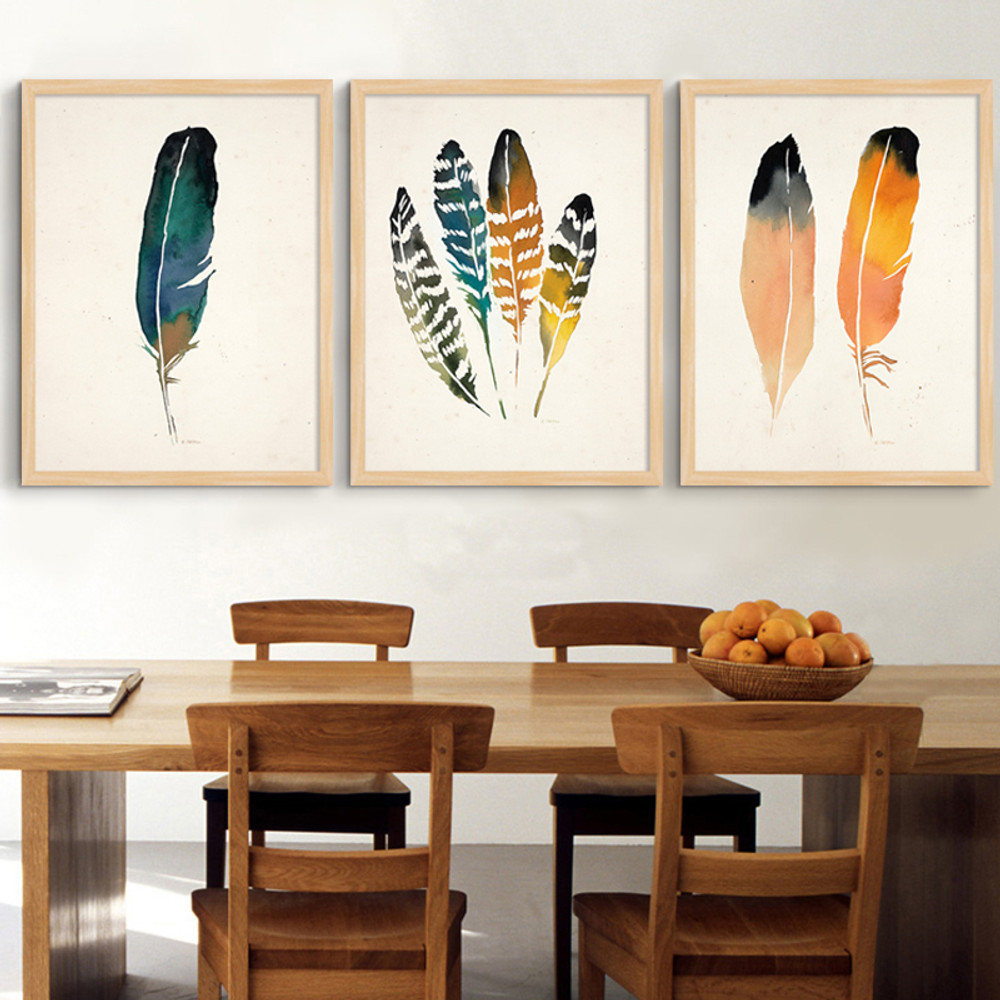 Abstract Native Feather Digital Print