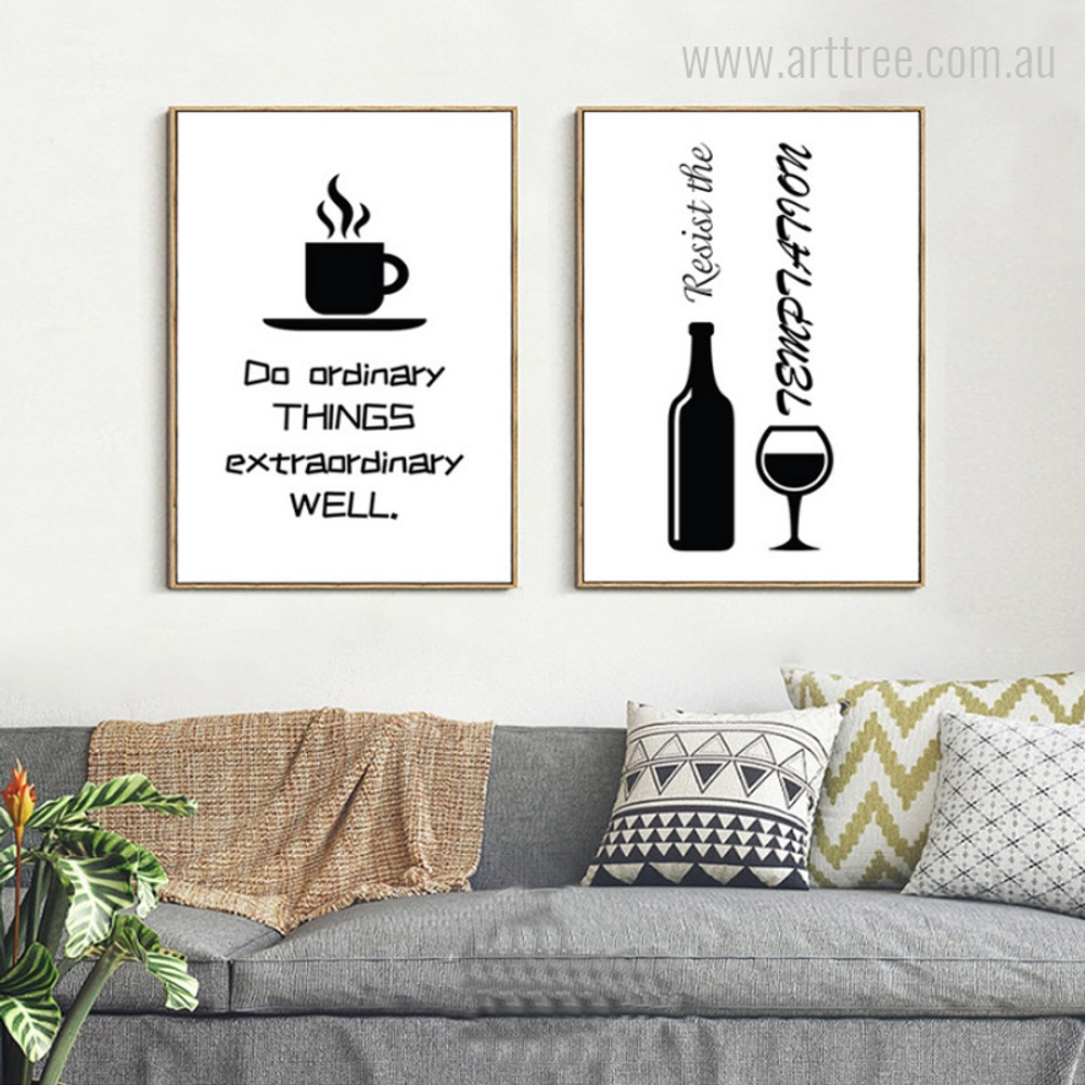 Coffee and Wine Quote for Kitchen