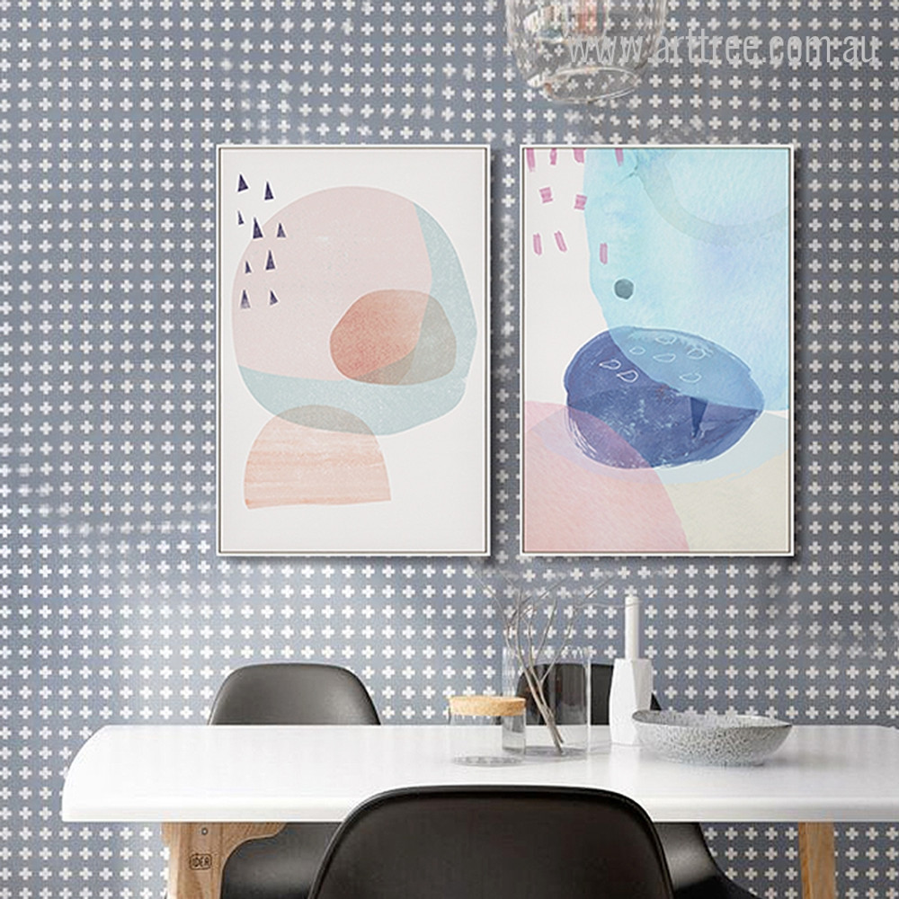 Abstract Multi Pink Princess Circles Design
