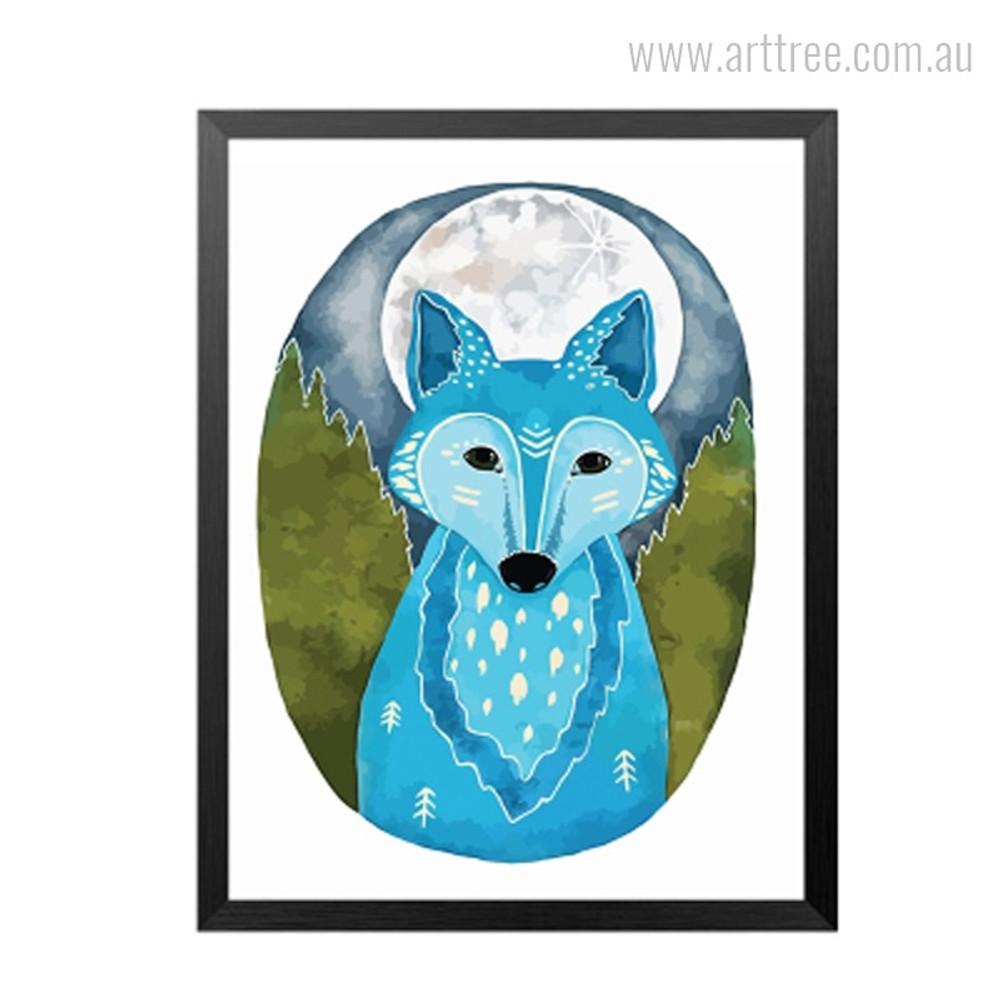 African Blue Fox Photo Canvas Print