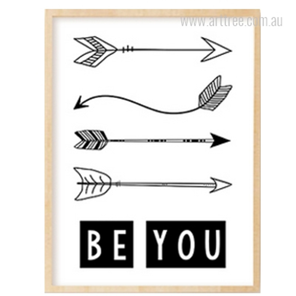 Be You Alphabets Arrows Boy Girl Wall Art