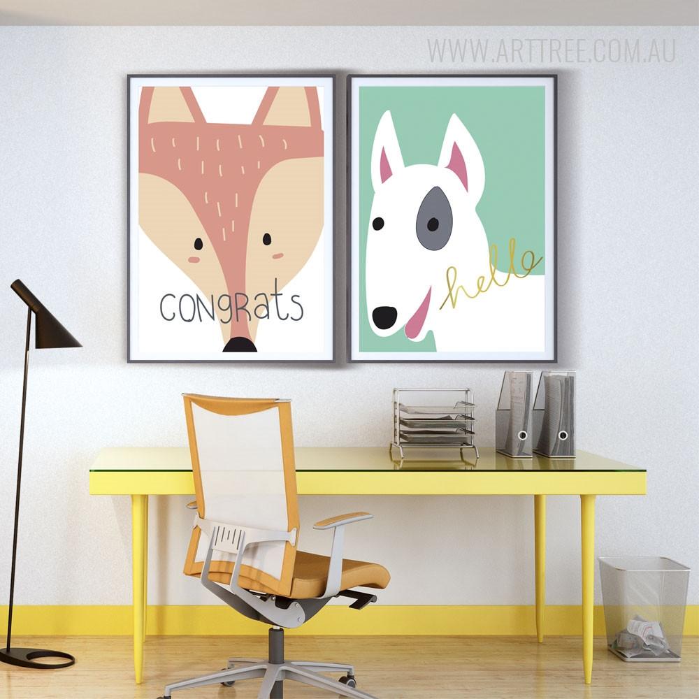 Congrats Fox, Hello Dog Animal Prints