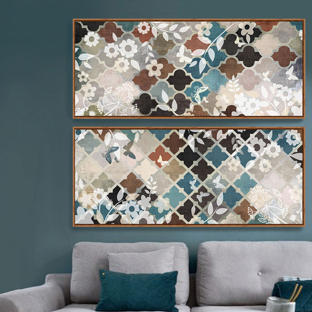 Moroccan Pattern Floral Canvas Art