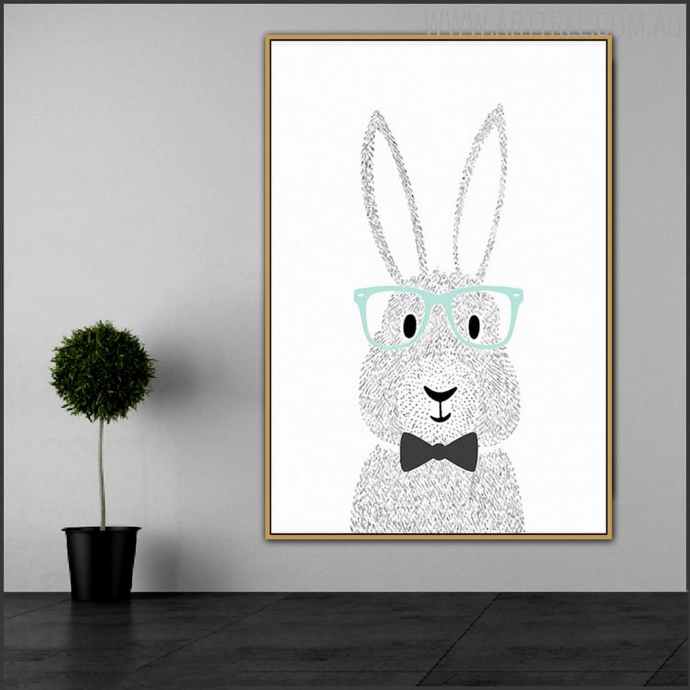 Rabbit Spex Animated Animal Wall Art Print