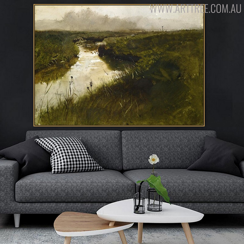 Wessaweskeag Famous Artists Still Life Landscape Scandinavian Painting Canvas Print for Living Room Wall Garnish