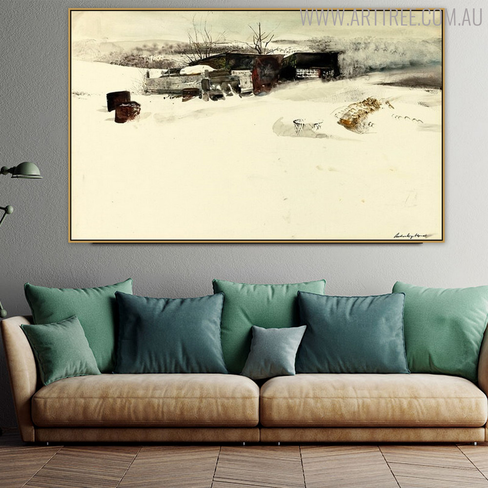Adam's Sheds Famous Artists Still Life Landscape Scandinavian Painting Canvas Print for Living Room Wall Ornament