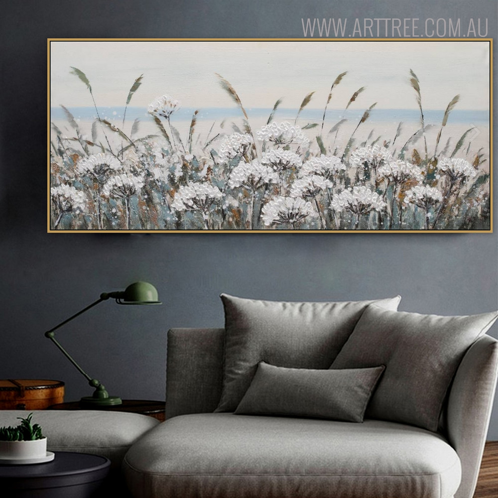 Farm Floral Modern Heavy Texture Acrylic Likeness for Living Room Wall Outfit