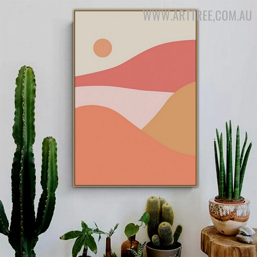 Daystar Mounts Sun Abstract Naturescape Scandinavian Artwork Image Canvas Print for Room Wall Decor