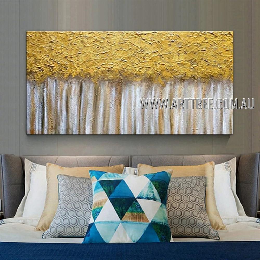 Golden Arbors Botanical Modern Heavy Texture Artist Handmade Abstract Artwork Painting for Room Spruce