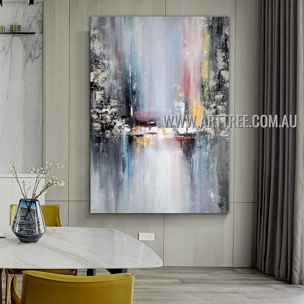 Dapple Taints Modern Heavy Texture Artist Handmade Abstract Artwork Painting for Room Flourish