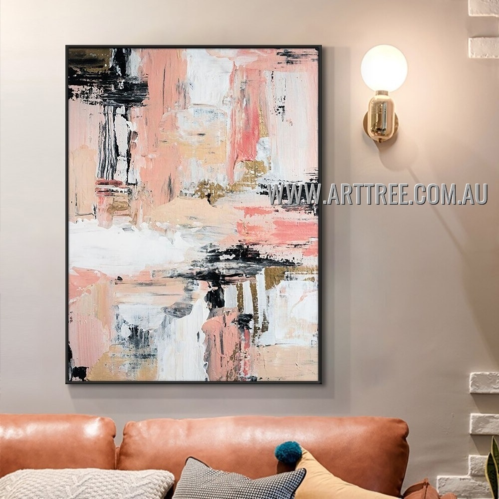 Colored Strokes Modern Heavy Texture Artist Handmade Abstract Wall Art Painting for Room Outfit