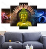 Wave Background Buddha Art