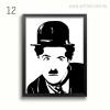 Black and White Charlie Chaplin Wall Art Print