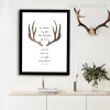 Deer Bible Verse Triangles Christian Quote Print