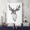 Geometric Deer Print for Blank Space