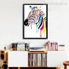 Colorful Zebra Animal