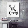 New Oh Deer Funny Antlers for Kids Room Decor