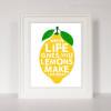 Make Lemonade Quote Digital Canvas