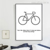 Inspiring Cycle Quote Rolled Digital Wall Art