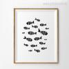 Minimalist Fish Design Canvas Wall Art