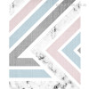 Pink and Grey Geometric Nordic Canvas Print