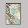 Blue Water Abstract Canvas Art