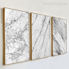 Grey Marble Canvas Art