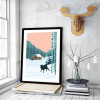 Dog Animal in Snowfall Forest Art Print