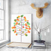 Abstract Multi color Tree Birds