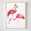 Modern Flamingo Birds Canvas Print