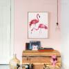 Modern Flamingo Birds Design Photo Canvas Art