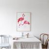 Modern Flamingo Birds Canvas Wall Art