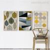 Abstract Geometric Leaves, Circles Scandinavian Art