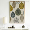 Abstract Geometric Leaves Nordic Canvas Print