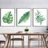 Watercolor Plant Green Leaves Minimalist Wall Art