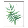 Minimalist Watercolor Plant Green Leaf