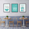 Green Baking Life Quotes Kitchen Wall Decor