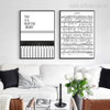 Piano Score This is a Beautiful Melody Quote Wall Art