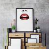 Fashion Model Woman Red Lips Graphic Art