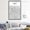 France City Map Print