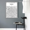 PARIS City Map Wall Art