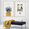 Pineapple Letters Golden Yellow Wall Decor