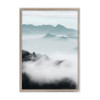 Sky Mountain Forest Rolled Canvas Print